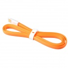 Flat Lightning 8-Pin Male to USB 2.0 Male Data Sync / Charging Cable for iPhone 5 - Orange (120cm)