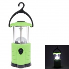 YT-809 White Light 1-LED Camping Lantern w/ Hanging Hook - Black + Green + Silver (4 x AA)