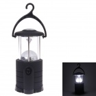 YT-809 White Light 1-LED Camping Lantern w/ Hanging Hook - Black + Silver (4 x AA)