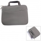 Fashionable Handbag Style Protective Polyester + Sponge Pouch Bag for Ipad - Grey