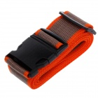 Luggage Belt Strap w/ Quick Release Buckle / ID Tag - Orange + Grey + Black (2m)