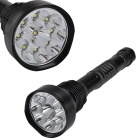 SingFire SF-122B 9 x CREE XM-L T6 7200lm 5-Mode White Flashlight - Black ( 3 x 18650 / 3 x 26650)