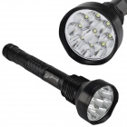 SingFire SF-122B 7200lm 5-Mode White Flashlight w/ 9 x CREE XM-L T6 - Black ( 3 x 18650 / 3 x 26650)