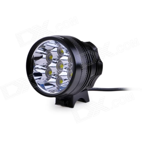 UltraFire U-L2 3-Mode 4000lm Cool White Bike Light w/ 7 x Cree XM-L2 T6 - Black (4 x 18650)