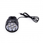 UltraFire U-L2 3-Mode 4000lm Cold White Bike Light w/ 7 x Cree XM-L2 T6 - Black (4 x 18650)