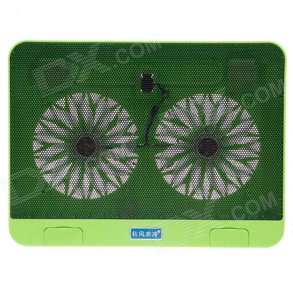 Shunzhan USB 2.0 Cooling Pad 2-Fan Cooler for 14