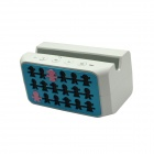 YX-06 Bluetooth V2.1 Stereo Speaker w/ Microphone / Hands-Free - White + Blue