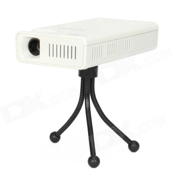 LZ-H100 Android 4.1 DLP Mini Projector w/ 4GB + Bluetooth + AV IN + HDMI + TF Card Slot - White