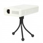 LZ-H100 Android 4.1 Mini DLP Projector w / 4GB + Bluetooth + AV IN + HDMI + TF-Karten-Slot - White