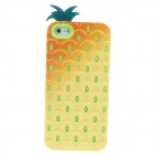 Detachable Pineapple Style Protective Silicone + Plastic Back Case for iPhone 5 - Yellow + Green