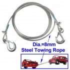 Steel Towing Rope / Trailer Rope - Silver (Diameter: 8mm, Length: 3.5m)