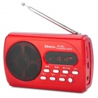 "Shinco HC-603 1,5 ""LCD wiederaufladbare FM-Radio MP3 Player w / TF Card Slot / Mini USB Port - Red"