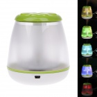 ELE1474 Four-Leaf-Clover Mini Portable USB Powered Air Humidifier - Green + White + Transparent