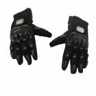 PRO-BIKER MCS-01A Skid-Proof Full-Finger Motorcycle Racing Gloves - Black (Pair / L-Size)