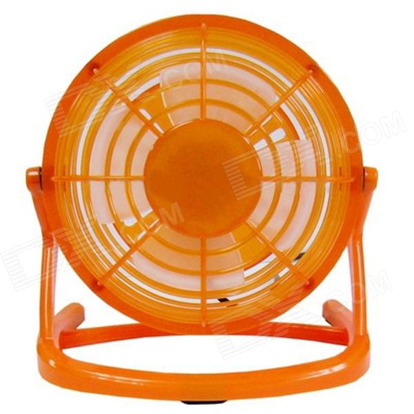 USB 2.0 Powered Ultra-Silence 4-Blade Cooling Fan - Orange