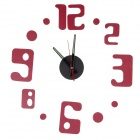 Fashionable DIY Home Decorating Wall Clock - Red + Black (1 x AA)