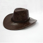 Great Western Style PU Leather Cowboy Hat for Men - Coffee