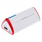 Galilio Y028 5600mAh External Mobile Battery Power Source for Iphone / Ipod + More - White + Red
