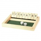 TR-90 Wooden Arabic Numbers & Dice Combination Toy for KTV / Board Game / Competition