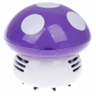 AOYU AY-3229 Mushroom Style Automatic Desk Vacuum Cleaner - Purple + White (2 x AA)