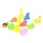 12-in-1 Kid's Bathing Non-Toxic Vinyl Squeaky Toys Set - Multicolored