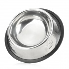 Stainless Steel Bowl for Pet Dog / Cat + More - Silver + Black (150ml)