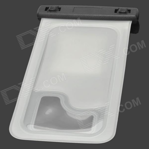WP-08 Waterproof Pouch Case for Iphone 4 / 4S / Samsung Galaxy S4 i9500 - Translucent White + Black