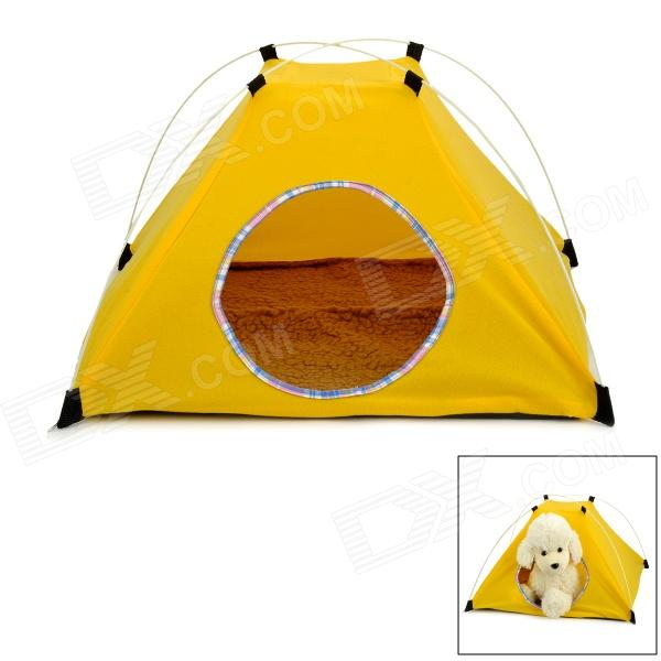 Convenient Outdoor Folding Tent Yurt for Cat / Dog - Yellow