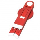 Multifunction Triangle Holder for Cellphone / Tablet - Red + White