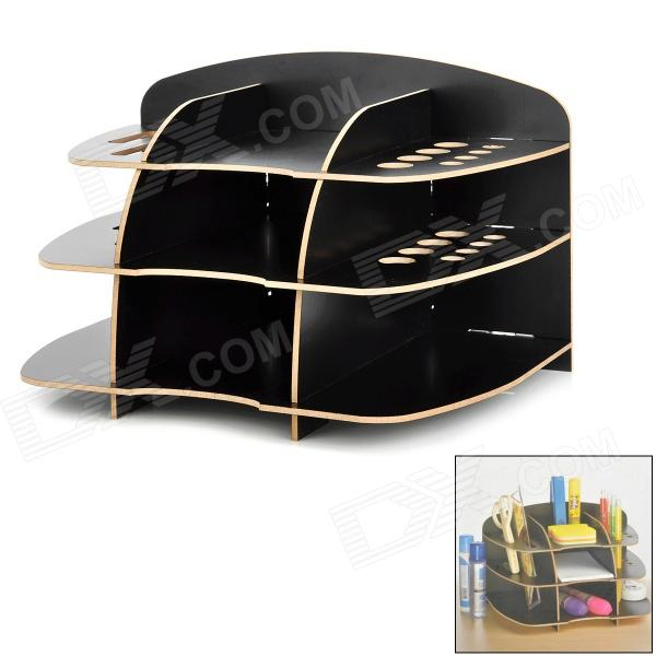 8998 Creative 9-Case MDF Desktop Stationery Storage Stand Holder - Black Detroit объявления о продаже