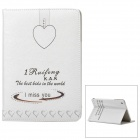 "ENKAY ENK-3339 ""I Miss You"" Protective PU Leather Smart Case for Ipad MINI - White + Black"