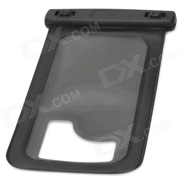 WP-08 Waterproof Pouch Case for Iphone 4 / 4S / Samsung Galaxy S4 i9500 - Translucent Black