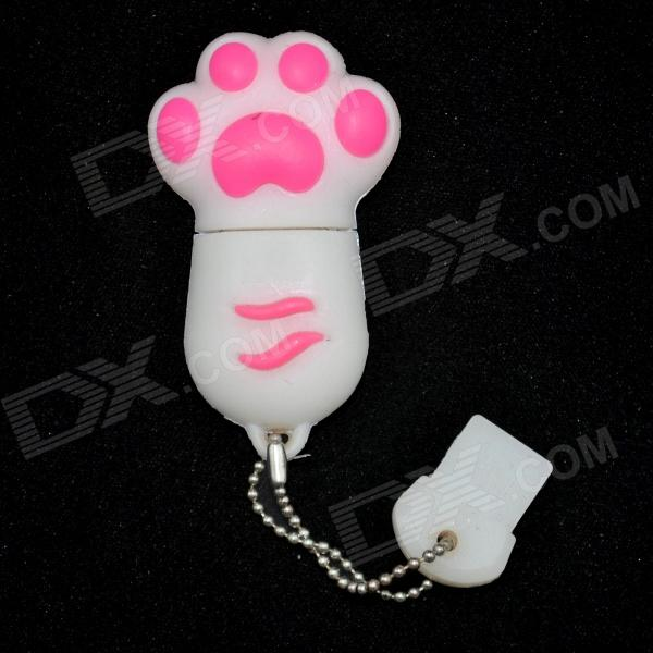 Cat Paw USB 2.0 Flash Drive - White + Red (8GB)