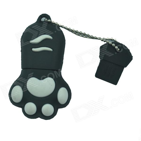 Cat Paw USB 2.0 Flash Drive - Black + White (8GB)