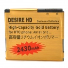 DESIRE HD Replacement 2430mAh Battery for HTC A9190 - Golden