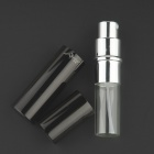 Portable Aluminum Alloy Perfume Spray Bottle - Black (6mL)