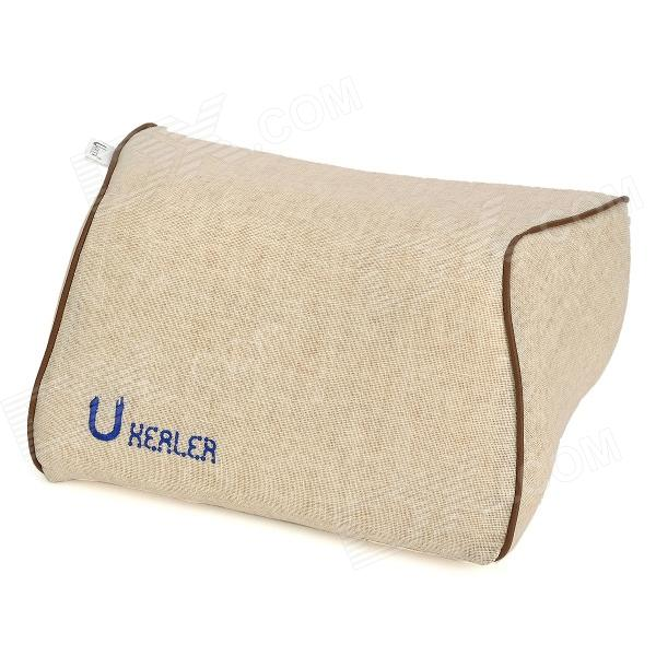 U-HEALER L042-KD Sponge Cushion Neck-Protection Car Headrest Pillow - Khaki