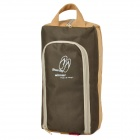 WINNER A17 Outdoor Travel Dacron Shoes Storage Bag - Beige + Brown