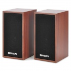 Senicc SN-465 Wooden Speaker for Laptops / Cellphone / MP3 / MP4 - Brown + Black