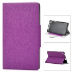 Protective PU Leather + Plastic Case w/ Card Holder Slots for Google Nexus 7 II - Purple
