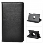 Protective 360 Degree Rotation PU Leather Case w/ Sleep Mode for Google Nexus 7 II - Black