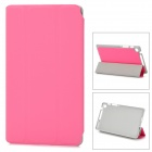 Stylish Protective PU Leather Case for Google Nexus 7 II - Deep Pink + Grey