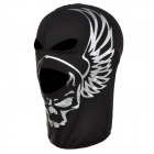 SW2002 Multifunction Skull Style Breathable Polartec Face Mask - Black + Silver