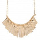 Buy Women's High Fashion Tassels Style Pendant Zinc Alloy Necklace - Golden