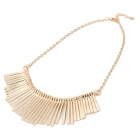 Women's High Fashion Tassels Style Pendant Zinc Alloy Necklace - Golden