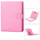 "USB 80-Key Keyboard w/ PU Leather Case for 8"" Tablet PC - Pink + White"