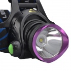 SingFire SF-552 800lm 3-Mode White Headlamp Headlight w/ Cree XM-L T6 - Black + Purple (2 x 18650)