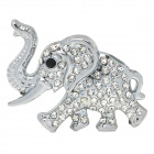 3D Zinc Alloy Elephant Car Double-Side Decorate Sticker - Silver