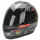 YOHE YH-993-M Cobra Pattern ABS Motorcycle Helmet - Black (M)