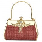 Luxurious Evening Bag Handbag for Party and Wedding - Red + Golden
